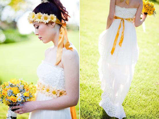 bohemian flower inspiration014 Garden Bohemian Wedding Inspiration