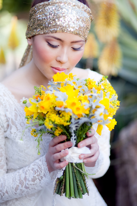 bohemian flower inspiration019 Garden Bohemian Wedding Inspiration