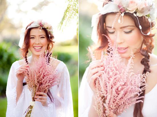bohemian flower inspiration026 Garden Bohemian Wedding Inspiration