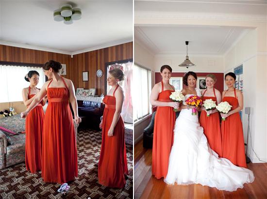 orange and pink shark island waterside sydney wedding0950 Bess and Mitchs Orange & Pink Shark Island Sydney Wedding