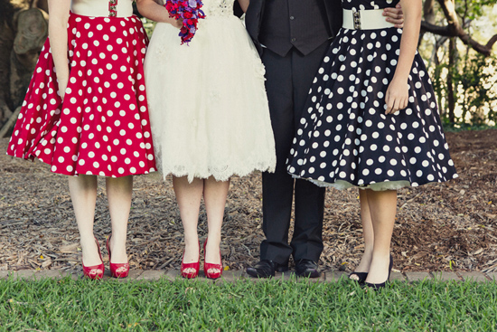 retro polka dot wedding0291 The Long And The Short Of Tea Length Dresses