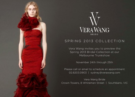 vera wang trunk show 550x396 Friday Roundup
