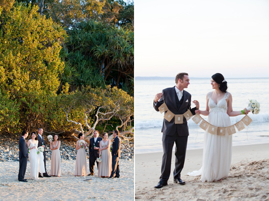 vintage style noosa beach wedding Sally and Andrews Vintage Style Noosa Wedding On The Beach