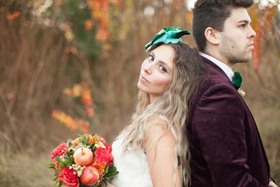 whimsical fall wedding inspiration010 Whimsical Autumn Wedding Inspiration