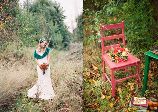 whimsical fall wedding inspiration011 Whimsical Autumn Wedding Inspiration