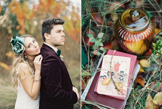 whimsical fall wedding inspiration022 Whimsical Autumn Wedding Inspiration