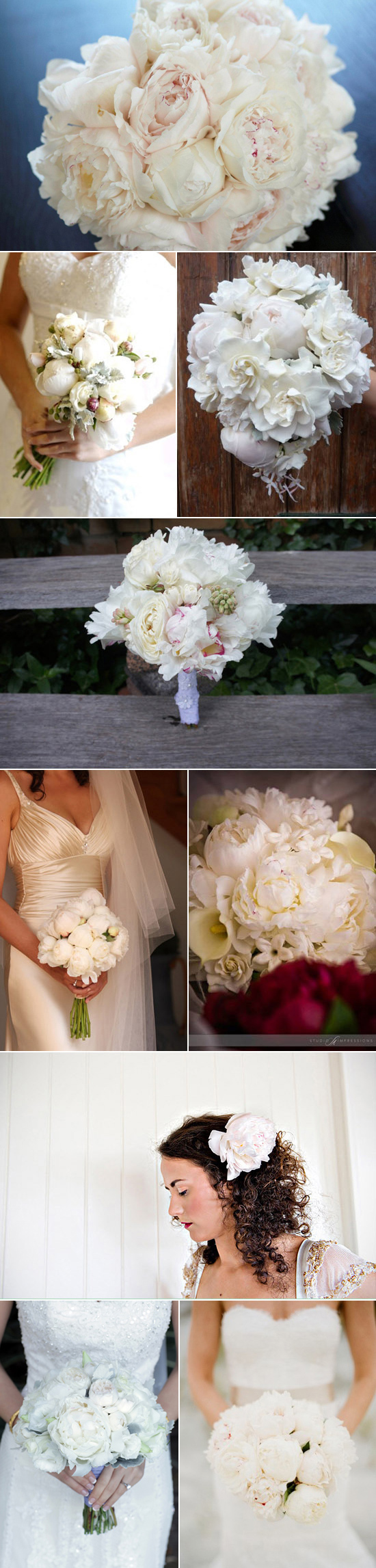 white peonies wedding inspiration
