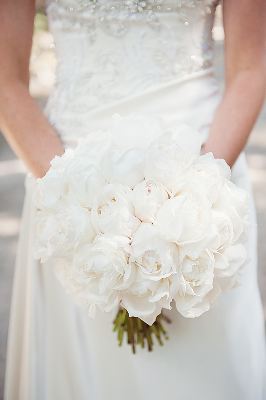 White Peony Bouquet Inspiration Image Polka Dot Bride
