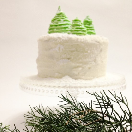 5 550x550 Ruffle Christmas Tree Cake Topper Tutorial