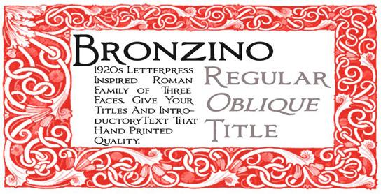 Bronzino™2 Tuesday Type Bronzino