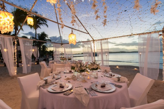 JMP2538 550x367 All White Wedding Setting: Pristine Wedding Luxury at Jumby Bay, a Rosewood Resort