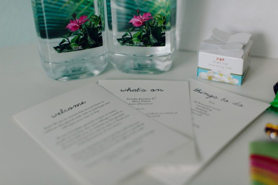 Kellee Walsh Welcome Bags 02 550x366 Destination Wedding Welcome Bags