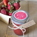 Valentines strawberry sauce title