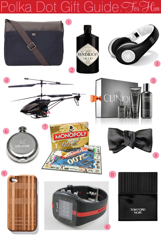 christmas gift guide for him copy Polka Dot Christmas Gift Guide For Him