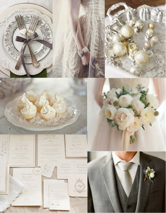 cream and mercury silver wedding 550x707 Cream and Mercury Silver Celebration