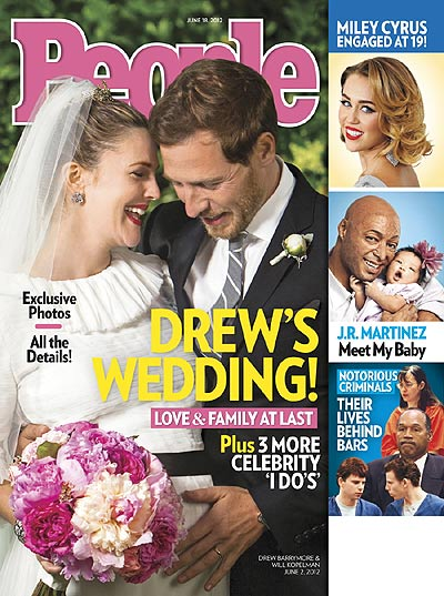 drew barrymore people The 2012 Celebrity Wedding Countdown