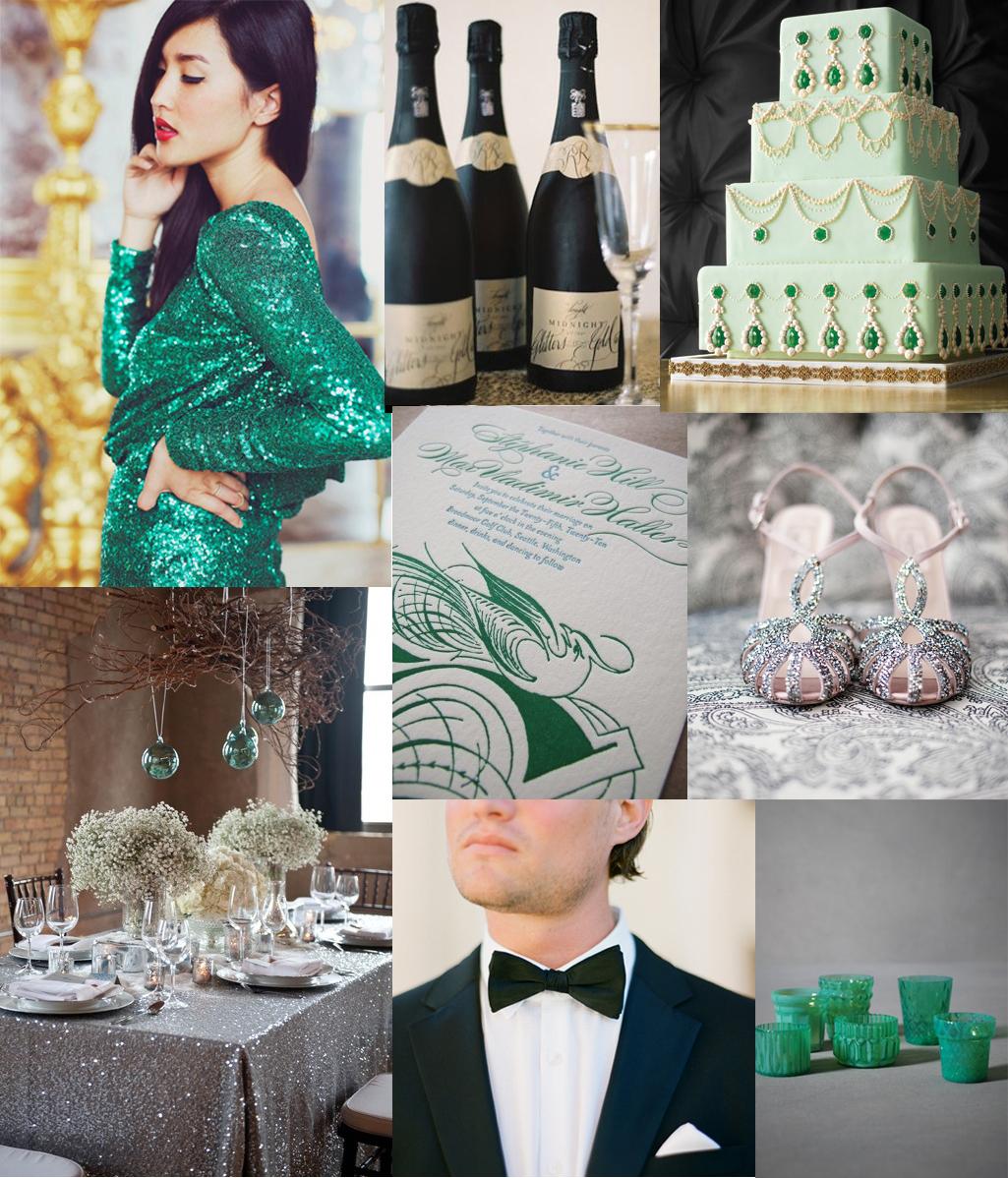 emerald green wedding inspiration