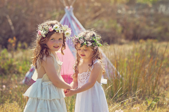 flowergirl ideas15 Teepees & Sweetpeas Flower Girl Inspiration