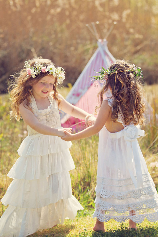 flowergirl ideas19 Teepees & Sweetpeas Flower Girl Inspiration