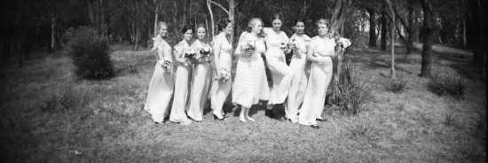 girls group bw 550x184 Sinead and Nathanaels Vintage Free Spirit Wedding
