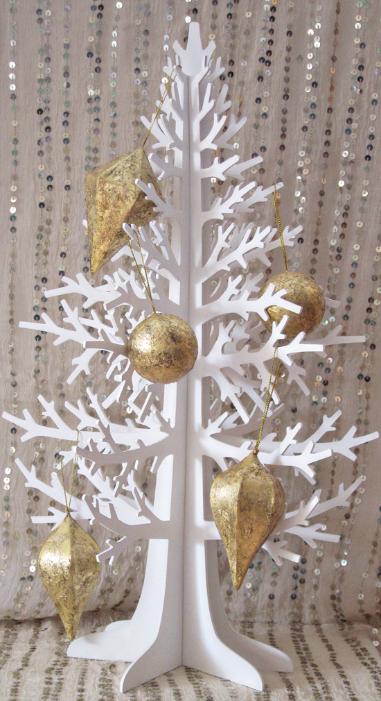gold foil decorations tutorial Gold Leaf Ornament Tutorial