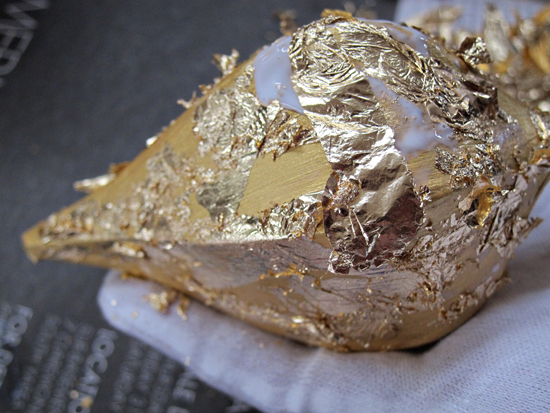 gold leaf christmas ornament tutorial Gold Leaf Ornament Tutorial