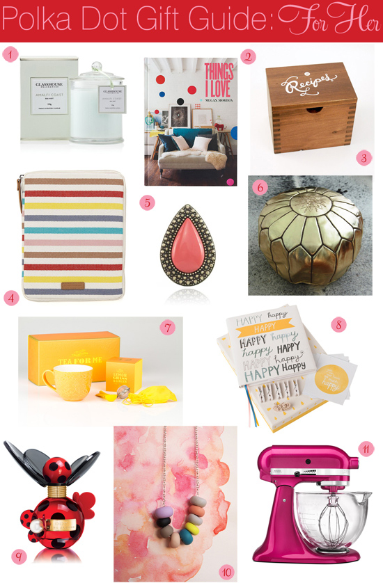polka dot christmas gift ideas 2012 Polka Dot Christmas Gift Guide For Her