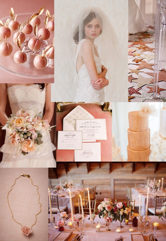 rose gold wedding inspiration 550x798 Rose Gold Reverie