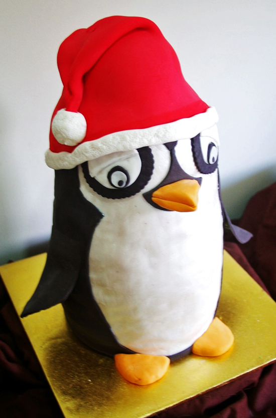 santa penguin single Christmas Favourites Deliciously Decadent Cake Design