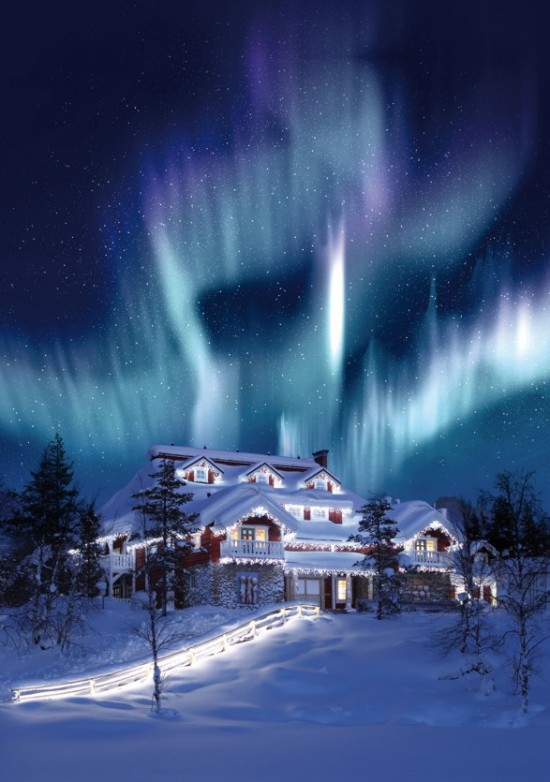 santas resort Celebration House 587x835 550x782 Five Resorts For A Christmas Style Honeymoon In Lapland