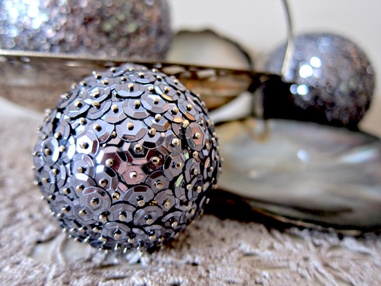 sequin ball decoration how to Sequin Ball Decoration Tutorial
