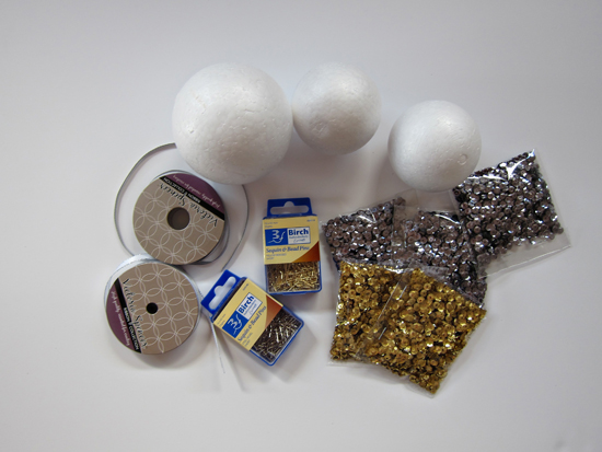 sequin ball decoration tutorial Sequin Ball Decoration Tutorial