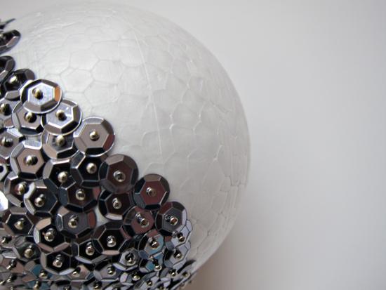 sequin glitter ball tutorial Sequin Ball Decoration Tutorial