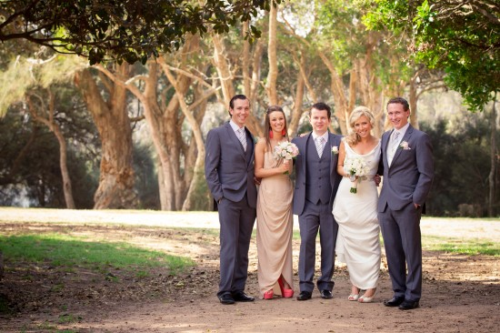 Grace Reid after the ceremony1 550x366 Grace & Reids Marquee Wedding On The Central Coast