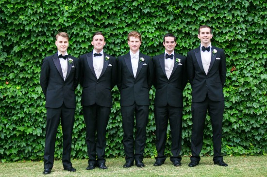 Groomsmen with pocket squares 2 550x366 Essentials: 6 Ways To Wear A Pocket Square