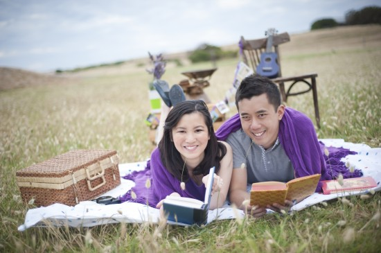 Joann Jay 078 550x365 Jay Sonn and Joanns Quirky Vintage Picnic Engagement Shoot