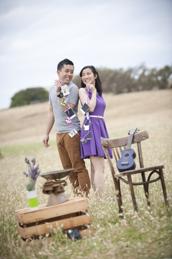 Joann Jay 115 550x826 Jay Sonn and Joanns Quirky Vintage Picnic Engagement Shoot