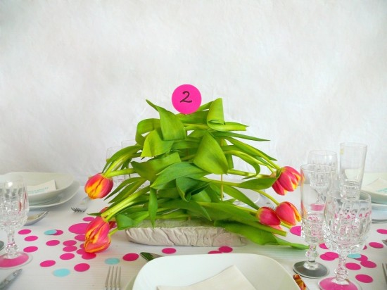 P1240284b 550x412 DIY Tulip Centerpiece Tutorial