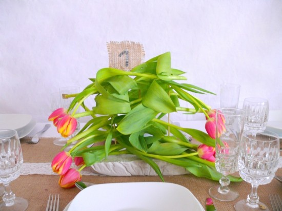 P1240290 550x412 DIY Tulip Centerpiece Tutorial
