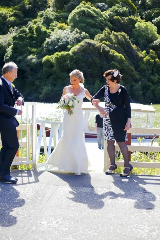 The bride's entrance.