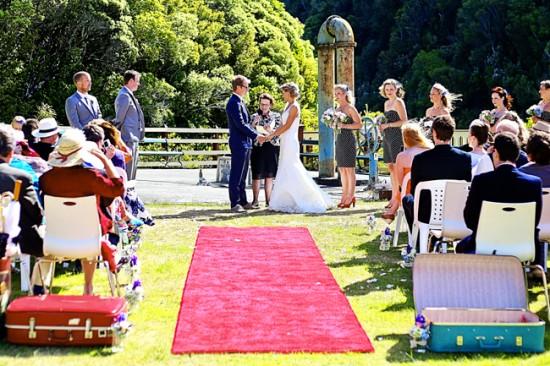 The ceremony on Zealandia's Heritage Lawn