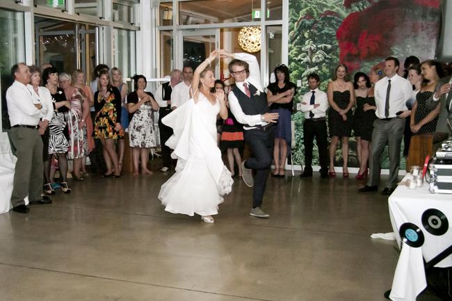 Steve Maura 387 Rustic 1940s Polka Dot Wellington Wedding