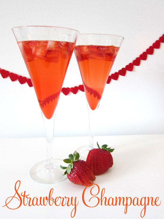 Strawberry champagne cocktail recipe Cocktail Friday Strawberry Champagne
