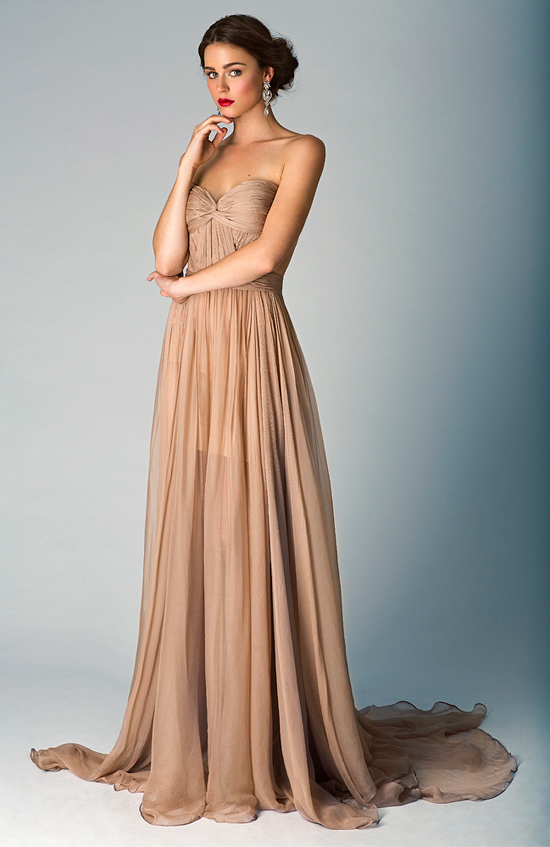 Taupe Wedding Gown 2