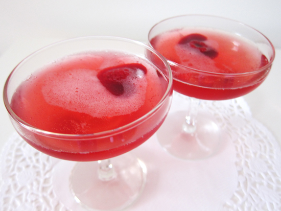Valentines Day Red Cocktail Cocktail Friday   Sparkling Pomegranate Raspberry Cocktail