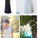 blue wedding gowns