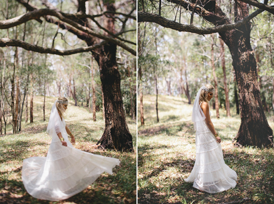 boho wedding gowns05 Grace Loves Lace Deep Forest Bridal Inspiration