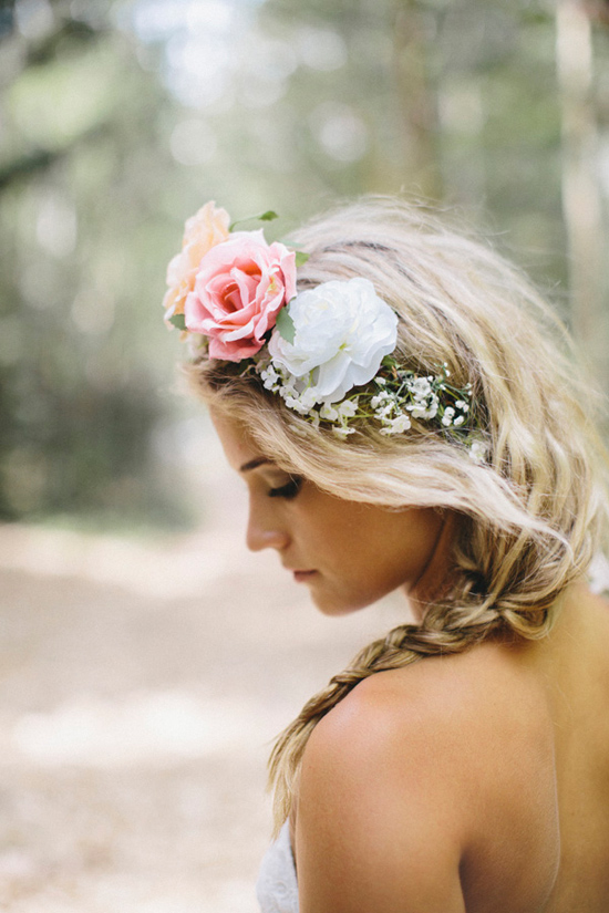 boho wedding gowns08 Grace Loves Lace Deep Forest Bridal Inspiration