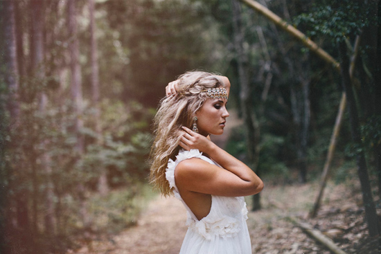 boho wedding gowns13 Grace Loves Lace Deep Forest Bridal Inspiration