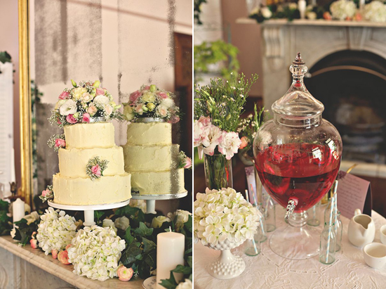 dessert table and drinks station Love Sweet Love The Vintage And Handmade Wedding Event